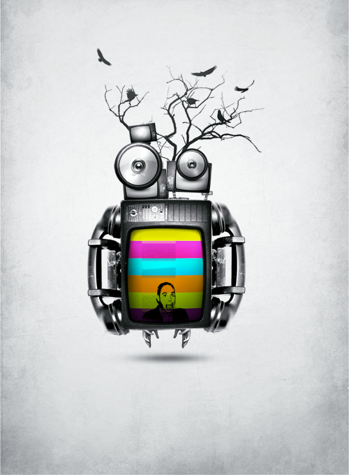 curioos-arts:  Nitin Garg (India) - Portfolio  I just love robots I think, but this is cool lookin! :)