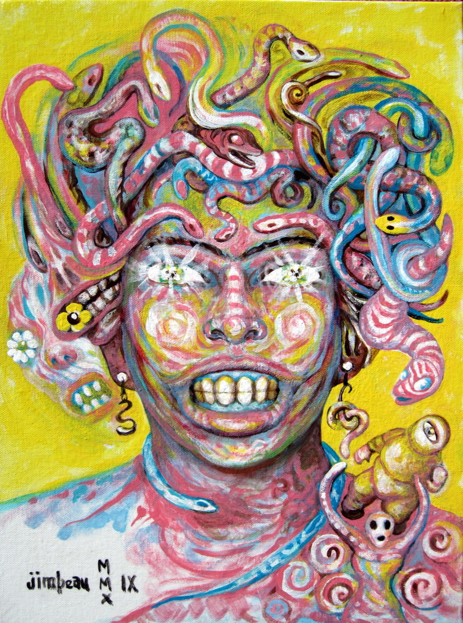 Candy-coated Medusa, the prettiest of the Gorgon sisters.
