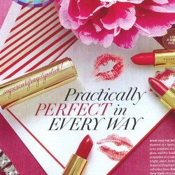 just opened o_magazine to find this little surprise! #supercalifragilipstick (Taken with instagram)