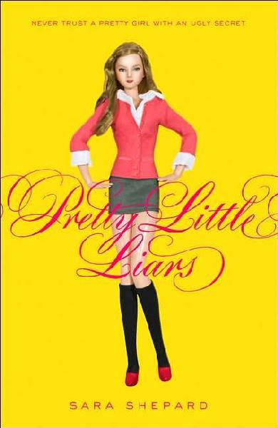 BOOK OF THE DAY: Pretty Little Liars by Sara Shepard   Everyone has something to hide—especially high school juniors spencer, aria, emily, and hanna.  Spencer covets her sister's boyfriend. Aria's fantasizing about her  English teacher. Emily's crushing on the new girl at school. Hanna uses  some ugly tricks to stay beautiful. But they've all kept an even bigger secret since their friend Alison vanished. How do I know? Because I know everything about the bad girls they were, the naughty girls they are, and all the  dirty secrets they've kept. And guess what? I'm telling.