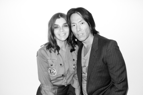 Carine Roitfeld and Steven Gan at my studio.