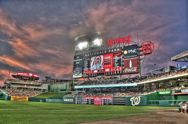 stadium-love-:  Nationals Park: Home of the Washington Nationals by Scott Ableman  This is a really nice ballpark.  Chris and i were tallying up the last time we were here and I think i have been to MLB games in: DC St. Louis (old and new) Kansas City Baltimore Cincinnati Denver for sure, this is one of the loveliest.