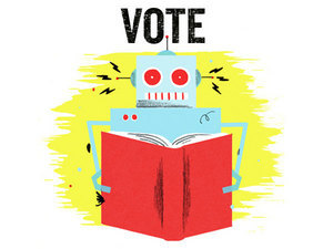 "Vote For Top-100 Science Fiction, Fantasy Titles : NPR  Last month we asked you, our audience, to nominate titles for a top-100 list of the best science fiction and fantasy ever written. Theresponse was overwhelming — almost 5,000 of you posted to the NPR site alone, and many thousands more offered suggestions on Facebook. We've tabulated those suggestions and, with the help of an expert panel, narrowed the list to a manageable field of a few hundred titles. Scrolling through the list of great science fiction and fantasy reads below will feel like a journey back in time for some of us, a voyage of discovery for others. But novice or veteran, everyone loves a contest. So, let the voting begin! Here's how: Everyone gets 10 votes. Select your top 10 favorite titles, and then scroll down to the bottom of the poll and click ""Submit."" Feel free to lobby for your favorites in the comments. We'll be back in about 10 days with the results.  Note to self — read more of these books!  (h/t Bryan K.)"