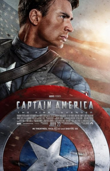 """Captain America: The First Avenger"" Written by Christopher Markus & Stephen McFeely, based on the comic book by Joe Simon and Jack Kirby; Directed by Joe Johnston. Stars: Chris Evans, Hugo Weaving, Hayley Atwell and Tommy Lee Jones. Story: After being deemed unfit for military service, Steve Rogers volunteers for a top secret research project that turns him into Captain America, a superhero dedicated to defending America's ideals. Seen by Lars & Adam, July 25, 2011 Being European, I never had much use for the patriotism of a superhero whose mere name flies in the face of subtlety. I never read Captain America comics as a kid, as I don't think they were translated into Danish the way that most other mainstream comic books were. Also, his outfit is silly (like none of the other superheroes have stupid threads, Lars…). In short, I have not been a fan, and from the trailers for the movie, I was led to expect the worst kind of propagandistic flag-stroking bullshit. So imagine my surprise, when ""Captain America"" The First Avenger"" turned out to be not just a good superhero movie, but great entertainment as well.""Captain America"" plays like the pulp serials of the 30s and 40s and is more than a little inspired by the hi-jinx of ""Indiana Jones"", which is about the highest praise I can give. It is a relentless action ride, and it took me back to the matinees of my 70s childhood, when our local movie theatre would play old adventure movies every Sunday at 2, and all the kids in town would show up to watch. I felt like that kid again with my big bag of candy and a smile on my face, as the Captain was fighting a preposterous and wonderfully cartoonish bad guy.Even though half a village has screenwriting credits on the movie, they somehow manage to get the balance right. We spend the first half hour getting to know and like Steve Rogers as a human being, before he is transformed into Captain America. This anchors the movie somewhat in reality before it flies into pure comic book action. It's not that the story is all that great. If you asked me to sum it up, it's Captain America wins the 2nd World War by fighting the real enemy, which is another superhuman named Red Skull. But the film moves from set piece to set piece at such an unrelenting pace that you're never given the pause to say 'hang on…'. You're along for the ride and you're sitting there with a goofy grin on your face. It's the first superhero movie to be set not in the present or the future, but mostly in the past. There's a trick connecting the Captain to the present, so he can appear in next summer's superhero extravaganza, ""The Avengers"", but that's really just a fun little aside. The majority of the movie takes place in the 1940s.Many of the kudos for the success of this flick must go to the cast. Chris Evans, whom I couldn't stand as the human torch in ""The Fantastic Four"", gets another chance to make a superhero his own and this time he doesn't blow it. From the 'aw shucks' mentality of Steve Rogers to the slow realization that he can make a difference, Evans never lets us lose sight of the character's humanity and that's why it works. Hugo Weaving has a field day hamming it up as Red Skull; a character decidedly not anchored in anything but pure cartoon villainy. Tommy Lee Jones predictably plays Tommy Lee Jones better than anyone. Relative newcomer Hayley Atwell, who is very delectable, if I may be so blunt, does a good job of being comedic foil and love interest for the Captain, even if he never really has much time to put down the shield.One of my biggest reasons for concern before seeing the movie was director Joe Johnston. With a resume that includes ""The Wolfman"", ""Jurassic Park 3"" and ""Jumanji"" there was absolutely no reason to think he'd get this right. He also has a few episodes of  ""The young Indiana Jones Chronicles"" (a show that was much better than it's credited for) on his CV and this seems to be where he found his inspiration for ""Captain America"". The movie is tonally pitch-perfect, and it would have been so incredibly easy to get it wrong.So now we have all the balls in the air, all the heroes have been introduced, and it's time for ""The Avengers"" next summer. Personally, I'm doubtful that any film needs 5 superheroes working together, but people in the know say the screenplay by director Joss Wheadon is great, so we'll see. In the meantime, go have fun seeing Captain America win the war. It's like buying war bonds, except you're paying Marvel to make more great superhero movies. ADAM:  When watching a trailer, you always get a feeling.  These days when the trailer ends, you turn to the person sitting next to you in the theater, and seemingly most often groan; the movie looks terrible, or you feel as if you've seen most of the comedy, action, or other devices of the film already.  Occasionally, your opinion differs from the crowd; that was the case for me with Captain America. I think I found myself excited about ""CA"" for two main reasons: although I was never a big comic reader, I liked Captain America best amongst the superheroes, and the ""Indiana Jones"" 1940s setting of the film (possibly my favorite time period) got me pumped. It seemed few others agreed with me, arguing that the Captain didn't really have any super powers, that it looked too much like ""Hellboy,"" that it wouldn't be cool because it wasn't set in modern day.I actually admired that this was different from other superhero films for exactly those reasons; every other comic adaptation seemed to be pitched to movie execs as taking the hero and throwing him into today's surroundings.  Maybe that's why every other superhero film (with the exception of Nolan's Batman series) seems exactly the same as another.  Maybe that's why I've pretty much forgotten them all.  Maybe that's why a Spiderman film is being re-done 8 years after the last ""first in the series"" was made.  Maybe it's that and greed.Captain America for me, is the best comic book hero movie made in recent memory.  I'm so glad it not only delivered on what was promised in the trailer, but much more.  Don't get me wrong — this isn't award-winning film making, and it never set out to be that; instead it takes what it is trying to do seriously.  And that's entertain in a pre-technicolor way, mixing the drab olives and khakis of the U.S. army with the red white and blue of U.S. war propaganda of the 40's and does so in a genuine way, feeling reminiscent of serials from sixty years ago.  What it ultimately conveys is a tough as nails attitude of a war involved America where everyone pithes in, war bonds are sold, and the battle is front page news everyday.  This isn't the ""don't trust your own government"" of the 70s films rhetoric; it's the ""us versus them,"" the ""enemy are monsters trying to take over the planet"", one for all and all for one rhetoric.  Funny; that sounds like the kind of rhetoric of most comic books.  Good versus evil, etc.  No wonder it works so well.  And it's not all 40's nostalgia; what's great is that the Nazi faction we're battling has developed weapons so advanced, there's a perfect crossover to Sci-Fi, another wise calculated choice.  Add great action and a good amount of humor provided by Tommy Lee Jones, and it's a fun ride from start to finish.  And speaking of finish, but trying not to to be a spoiler, for those of you who have loved the clone-ish comic book adaptations we've been subjected to in the past ten years and must have your heroes ported into present day, there's a solution to that too.  See it.  You'll have some patriotic fun."