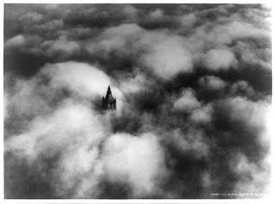 fourmarys:  Aerial view of the Woolworth building, 1928. Tallest building of the time.