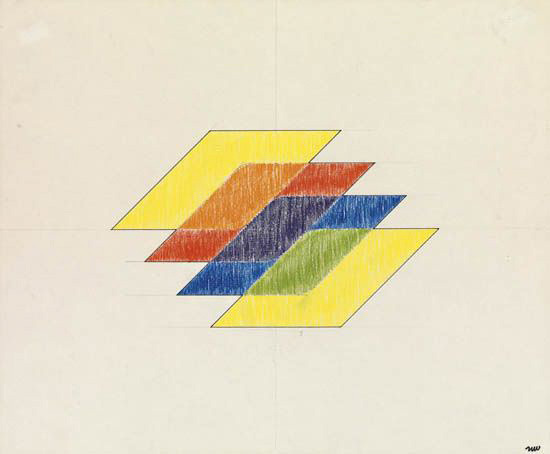 Neil Williams Composition with Color Planes Circa 1966