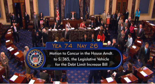 Debt ceiling bill passes Senate, 74-26