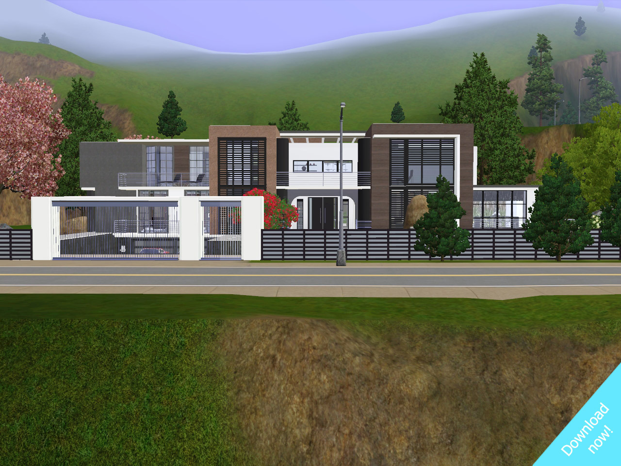 Hey all! I have the house I've been working on for awhile now! :)It has 4 bedrooms, 3 bathroomsand  an unfinished basement! it has an indoor pool in the basement, but i  couldn't think of an idea! so id love to see your pictures of it! :)ALL CC IS INCLUDED IN THE DOWNLOADThe house is set in a town called Queenstown, heres the link:http://awesims.sixty-ten.net/2011/04/22/new-world-for-the-sims-3-queenstown/Ive  included both a furnished link, and an unfurnished link. Reasons are  that people couldn't download the massive file. but some could.FURNISHED: (cars not included)* http://www.megaupload.com/?d=Q18RPV2HUNFURNISHED:  http://www.megaupload.com/?d=XHTC9K1VThanks for watching guys! Please subscribe and like!*  I haven't included the cars because they make the file way to big, but  if you want the cars, just to to Freshprincecreations.com. he has all  the cars i use. :) Here is the video if you want to watch the interior: http://www.youtube.com/watch?v=7mKETkqYgz4&feature=channel_video_title