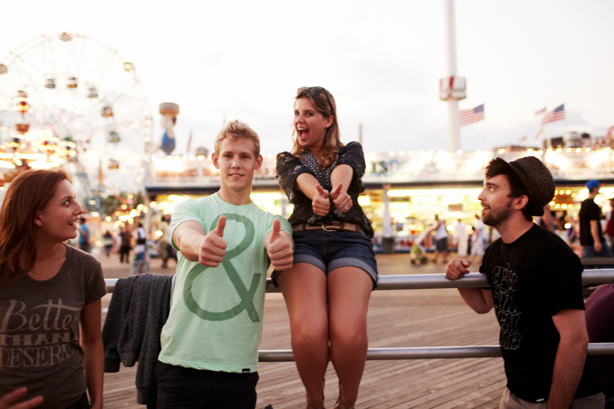 Taylor and Loren. Coney Island.