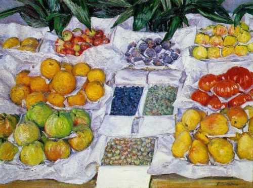 Gustave Caillebotte's Fruits sur un étalage c. 1882; oil on canvas.
