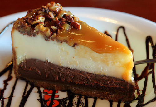 Turtle cheesecake.