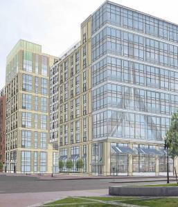 Apartment, retail complex planned near TD Garden - A Colorado developer will start construction next week on an 11-story apartment and retail complex across from the TD Garden, becoming the first homebuilder to resume work in the neighborhood following the recession.