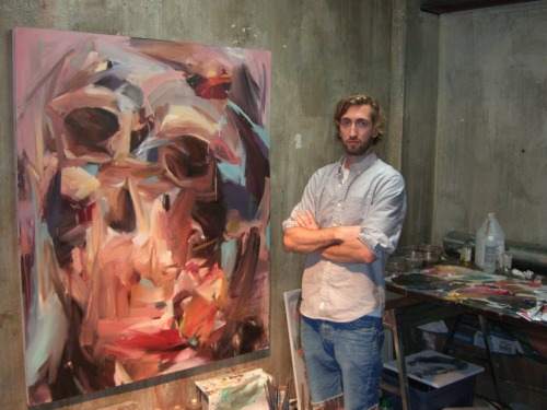 "Artist Profile:  Nick Lepard      Situated blocks from the action of Rogers Arena and athletic village of the 2010 Olympics, the studio of artist Nick Lepard, is in the center of the rich cultural life of downtown Vancouver.   The tall ceilings, and expansive concrete walls of Lepard's studio seem to provide the ideal workspace for Lepard's huge canvas paintings.  ""I enjoy it here, it's the perfect situation for me to try out some new directions with my work,"" reflects Lepard.  ""For the past few years I've spent most of my time in Haida Gwaii or San Diego county.  When I am in Vancouver, like up north or in California, I'm mostly just squirreled away in the studio.""                                                         When I Was An Animal  ©Nick Lepard. With his brilliant and fluid expression, the artistic voice of Lepard's paintings is creating the resonance it deserves across the contemporary art scene.  ""I want my paintings to be fresh.""  ""The large pieces work in layers, so mistakes actually contribute really unique aspects.  As the painting progresses and more layers are added, the image will be adjusted to become more ""correct"" but there remains a visible history,"" Lepard states.                                                        The Way In Which We Change ©Nick Lepard. Nick's use of color and lively brushwork leap the features of his portraits off the paint surface a sculpted depth and texture.  Seeing his work up close its apparent Nick's comfort and composition with a large canvas suits his style well.                                                              From Milan To Vienna ©Nick Lepard.  His painting From Milan to Vienna was the first work I had seen of his.  At first sight Lepard's work reminded me of some other great artists who place their subjects close to the foreground such as Santiago Ydanez.  What is unique with Lepard's style is intense brush movement and creative palette choices – it captivates the viewer's interest with seemingly so much to study.                                                                      Monkey in Red  ©Nick Lepard. He states, ""There are things you can't plan for that evolve from making mistakes or from happenstance.  There are also the things that don't look right on their own, but, from experience, you know will be contextualized by another part of the painting…so it's a matter of patience and confidence and just letting some things sit.""  I then asked Nick a few questions: What is the one tool in your studio you cannot live without? NL:     ""I use my camera a lot.  I find it valuable to shrink my pieces down to thumbnail size.  It is important that they work up-close and from a great distance.  I wonder though, if it is also the effect of living in Vancouver and seeing paintings mostly on the computer and as digital images.""                                                                             I Wanna Love ©Nick Lepard. What artist do you reference from or find inspiration from the most? NL:  ""I was just in NY and saw several Lucian Freud paintings at the MET.  Being from Vancouver I had become familiar with his work through photographs, not having actually seen any in person.  It's weird, you have a relationship with this work… but then you see it and everything changes.  I imagine it's a bit like internet dating when you finally meet the person and you have all these opinions and expectations about them.  You have a relationship with something, but it isn't quite the thing itself.    Painting is so material based.  It's about physicality and presence in space.  Photographs of paintings really don't capture a whole lot.  So some of my influences are a bit skewed.""  What I didn't know expect to discover during our visit was Nick's passion and interest for surfing.  Sparked by a surfing picture on his laptop, I was initially intrigued thinking he surfed off the coast of Vancouver.  Only to learn Nick and his friends have driven to far stretches of Alaska and surfed the near freezing temperatures in the Alaskan ocean to catch a wave and enjoy an adventure.                              Northern Gentlemen: Nick and his friends surfing in Alaska. We all have our tales of waves and surfing adventures, but I would never in a million years surf in water that required a 6mm wetsuit.  I went into the interview thinking I would be awestruck by his art, which was without question.  As we drove away I shook my head in amazement and admiration that he not only surfed those waters,  but seemed to enjoy doing so.  Nick Lepard is a artist and painter living in Vancouver, British Columbia.  You can learn more about Nick and see more of his work by visiting his website.  nicklepard.com. This article was written by Michael Accorsi for Plotlines Art Journal August 2011."