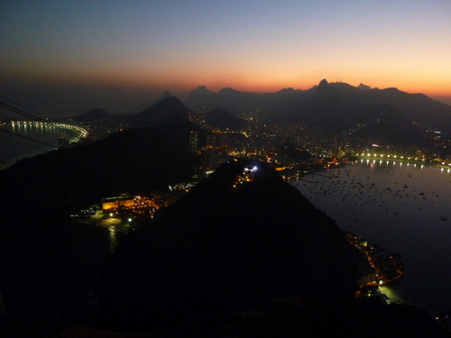 View of Rio de Janeiro we hiked up Urca and took a cable car to Pão de Açucar…this was our view. beleza!