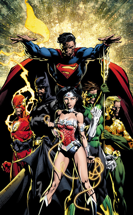 soedoica:  Variant cover for Justice League #1, art by David Finch.   Token Black Guy not included.