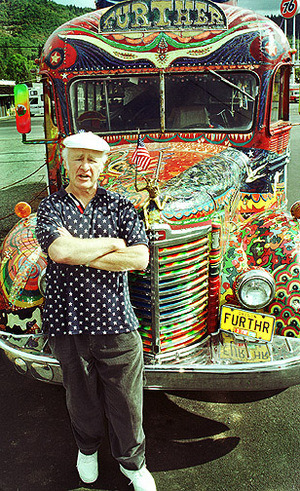 Ken Kesey standing next to the Further  Source: top 10 substance addled writers