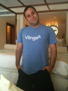 Thanks for the @vlingo shirt @hadley. Wearing it to dinner in Cancun!