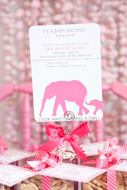 Little girls baby shower, elephant themed.. love it. Click here to see more photos