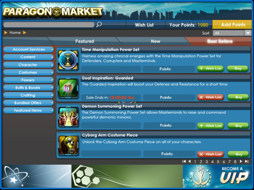 Preview the 'Paragon Market,' City of Heroes' in-game store City of Heroes is going free-to-play later this year  under the name City of Heroes: Freedom.  The superhero MMO will follow  in the footsteps of several other previously pay-to-play MMOs by  transitioning into a hybrid free-to-play model.  This model supports  monthly subscriptions but also offers a way to play completely for free  or with the aid of microtransactions.