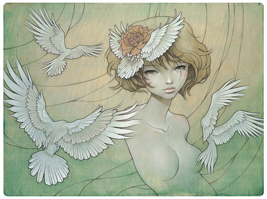 I really admire Audrey Kawasaki's work, so feminine and fragile <3