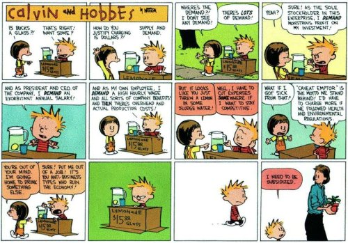Calvin and Hobbes on Capitalism