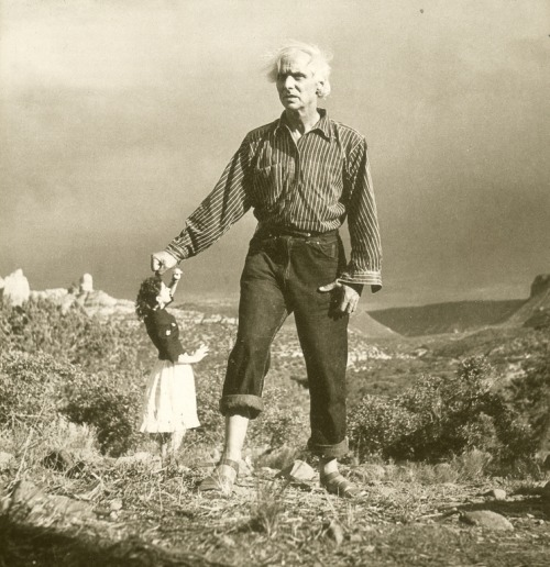 wetbehindthears:  Max Ernst and Dorothea Tanning photographed by Lee Miller, 1946.