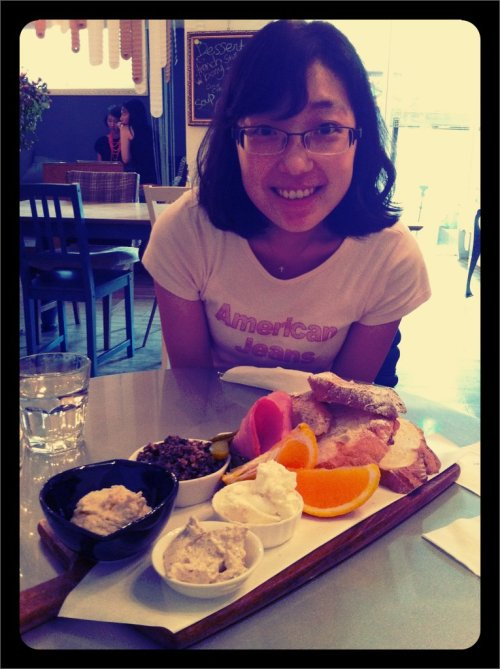 Wifey talk with Joo Joo <3 (Taken with picplz at The Flying Pan Blue.)