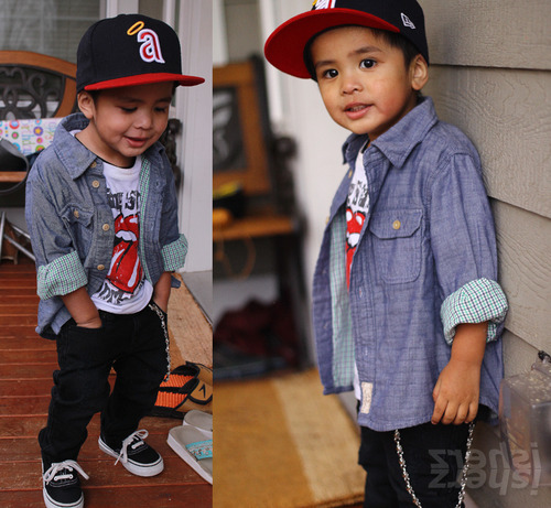that awkward moment when a 4 year old has more swag then you.