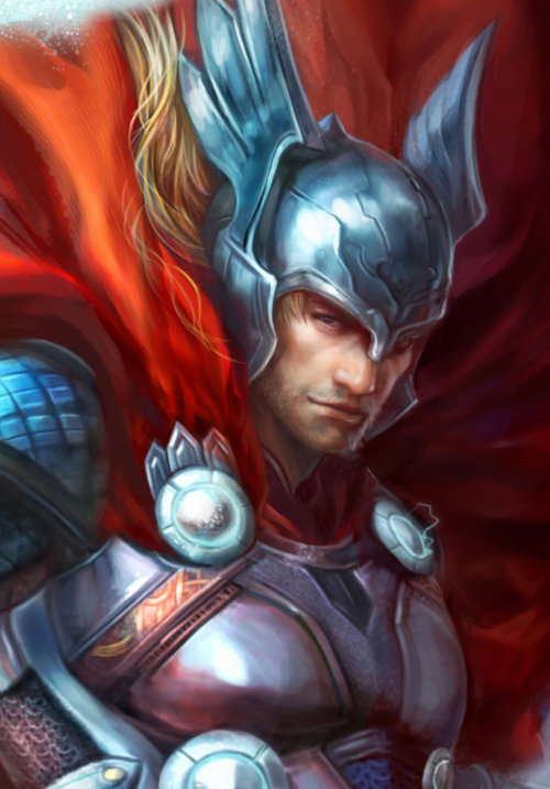 Thor:God of thunder Detail by *jiuge I..it..ah…uh…I…guh.