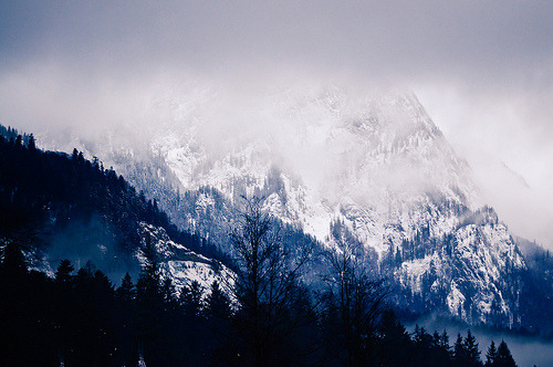 -likeashootingstar:  Snowy Mountain (by Sergiu Bacioiu)