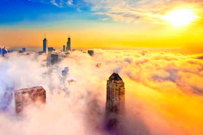 sunsurfer:  Foggy Day, Chicago, Illinois  photo by By IC360