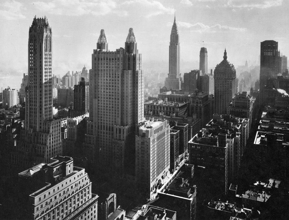 decoarchitecture:  Manhattan, 1930svia sourvix The Age of the Skyscraper.