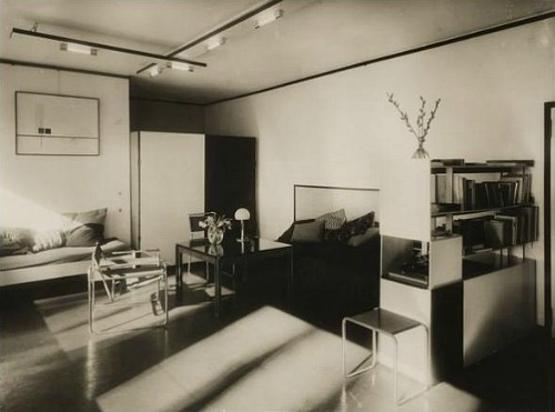 | ♕ |  Living room of Moholy-Nagy's house, Dessau, Germany (1927-28)  via Lucia Moholy - The Bauhaus of Walter Gropius post by whitehotel | volition-interior | skibinskipedia