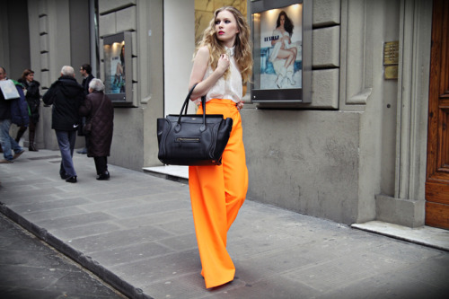 dietcokeandasmoke:  fashion squad - jil sander orange