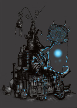 Another threadless design That is now done scoring, you can click here for the back story behind the character though http://www.threadless.com/submission/357776/The_Dreamcatcher