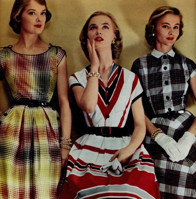 theniftyfifties:  Ladies' summer fashions, 1950s.