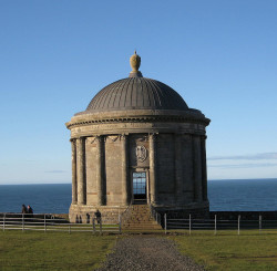 ysvoice:  | ♕ |  Mussenden Temple - Castlerock, Northern Ireland  | by Mari Ward-Foster  Mussenden Temple was built in 1785 as a Library.It was modelled on The Temple of Vesta in Italy.   Places I wanna go.