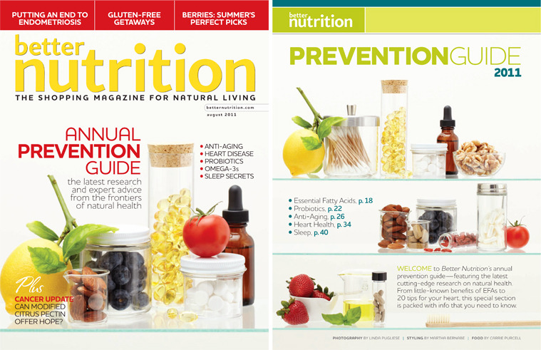 Better Nutrition Cover, August 2011