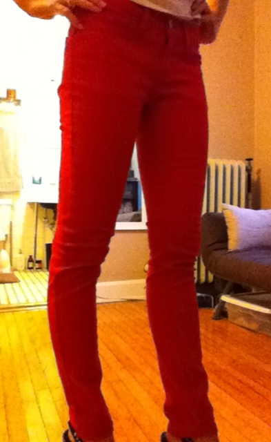 Rockin' the new red jeans today.