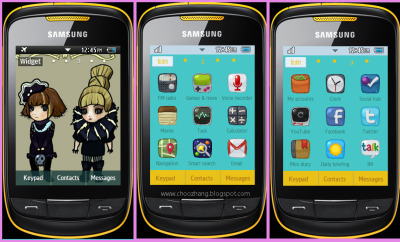 2ne1 Theme-Download Samsung Corby 2 Themes for free at http://choozhang.blogspot.com/2011/07/samsung-corby-2-or-s3850-2ne1-chibi.html