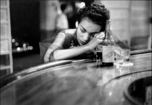 chicadelachina:  Bar Girl in a brothel in the red light district, Havana, Cuba, 1954 by Eve Arnold