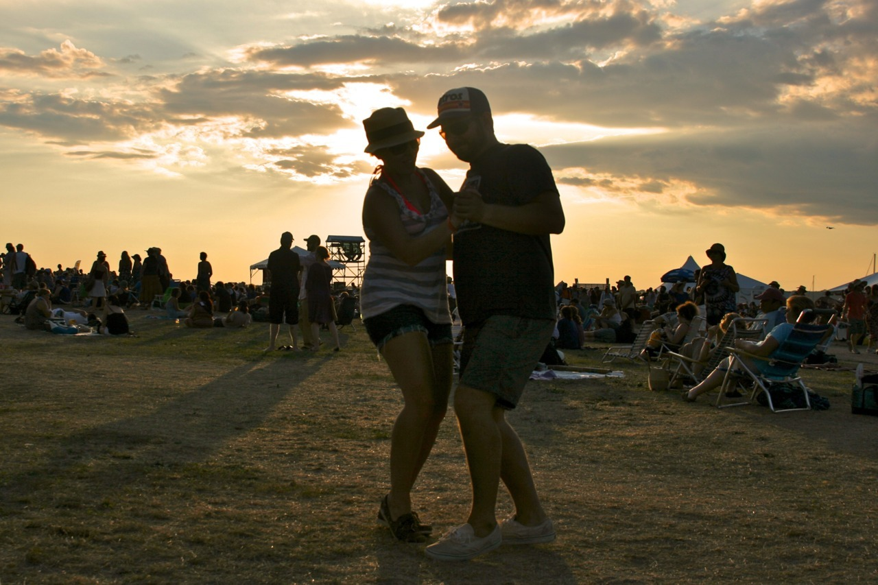 bridif:  Folks grooving during the Newport Folk Festival, Sunday July 31, 2011