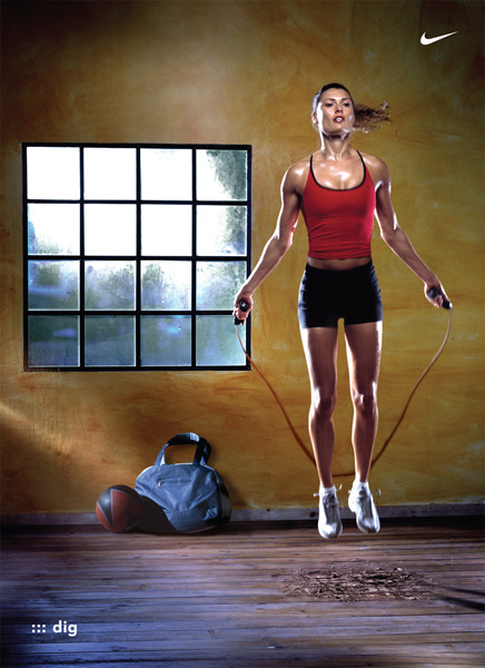 muffintop-less:  Jumping rope is one of the most effective forms of cardio, because it implements high intensity intervals! Try it for yourself! Warm up and then do 8-10 sets of 1 minute, all-out sets. Rest 1 minute between each minute of rope-jumping. I guarantee you will be panting and sweating your brains out! You can burn approximately 100 calories in ten minutes.. but the glory of high intensity intervals, is that they raise your resting metabolic rate for HOURS afterward, resulting in more calories burned throughout the day.. as opposed to steady-state cardio, where the calorie burning stops when you stop moving!
