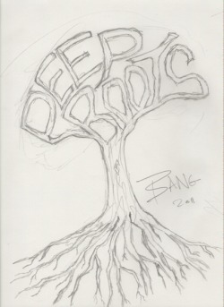 deep roots logo mock up . 2011