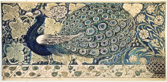 poboh:  Design for a tile panel,  William Frend De Morgan (1839 – 1917)  -English potter and tile designer. A lifelong friend of William Morris, he designed tiles, stained glass and furniture for Morris & Co. from 1863 to 1872.
