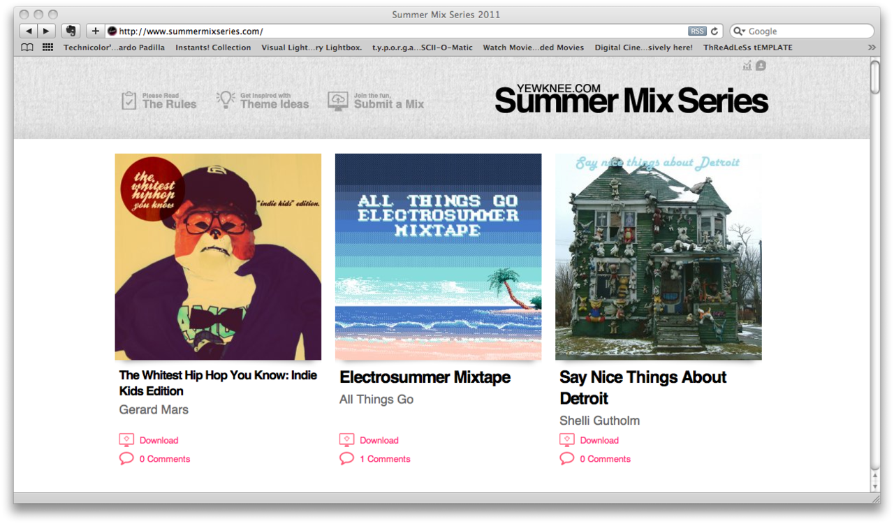 My mixtape is now officially part of Yewknee's Summer Mix Series 2011, it's called The Whitest Hip Hop You Know: Indie Kids Edition, it's available for download now through their website (which leads back to my website) featuring 10 awesome rap tracks handpicked specially for those of you who want to get into hip hop but don't really know what to jump into. It also has a very special audio foreword by Dr. Stephen Hawking (author of History of The Universe, The Universe Explained Vol.2 and History of Hip Hop In Space). I think it's pretty neat. If you downloaded it and liked it then please help me out by commenting through their website or reblogging (sharing it) to your other followers and friends. PS: Last year I made another Mixtape for them called RESPECT: A Compliation of Badass Electro which also received good reviews and hits (it still gets downloads and reblogs today) so If you like this mixtape give the 2010 one a try, really dancy stuff.