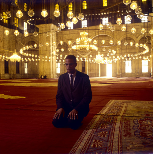Malcolm X at prayer