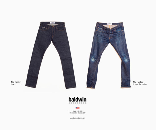 abcdenim:  The Henley by Baldwin after 18 months. Designed in Kansas, Made in USA