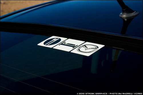 Sabrina's Mazda3 by Andrew Vicars on Flickr.I need one of these decals for my car! #mazda3Wednesday