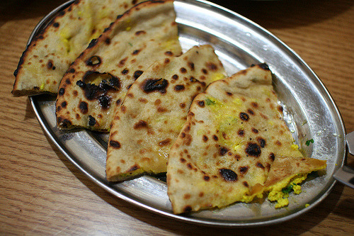 indian-food:  Paneer Kulcha  I WANT THIS.
